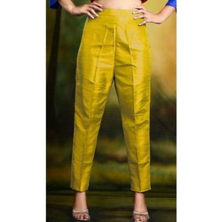 Plain Cotton & Silk Trouser, Waist Size: S-L M-XL-XXL