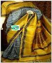 Grey And Mustard Women Saree Mur002
