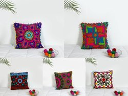 Embroidery Suzani Cotton Cushion Cover