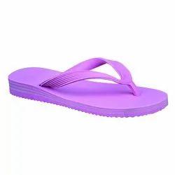 Sumoto Women Khushboo Lifty Heel Purple Rubber Slipper, Size: 4-8 Number