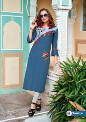 Girl Rayon Sleeveless Kurtis