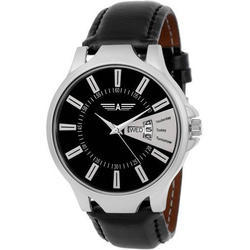 Allisto Europa Black AE-69 Day and Date Display Men Watch