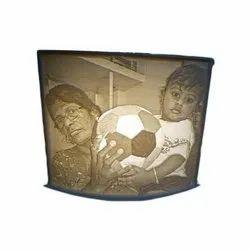 Plastic(Frame) Lithophanes Photo Frame, For Gift, Size: 10x10 Cm