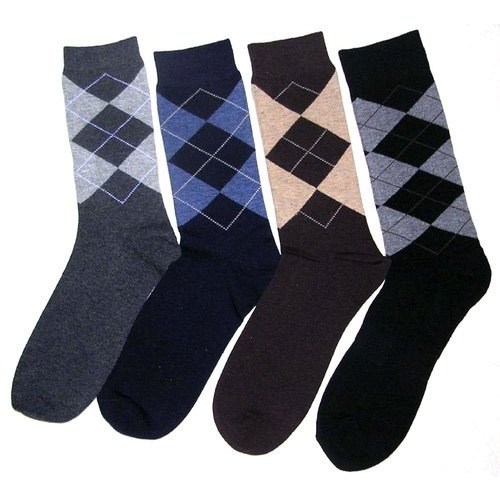 Cotton Men Printed Socks