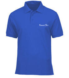 Men Collar Blue T Shirt