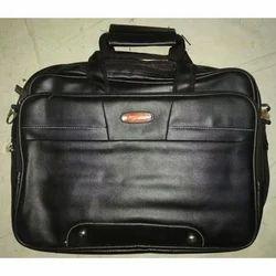 Mens Leather Black Briefcase Bag