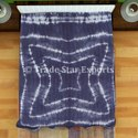 Indian Hand Quilted Shibori Kantha Bedspred 100% Cotton Handmade Shibori Kantha Quilt
