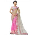 Ladies Mirror Bordered Net Saree