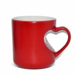 Sublimation Heart Shape Mugs