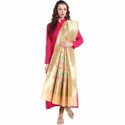 Multicolour Beige Banarasi Dupatta
