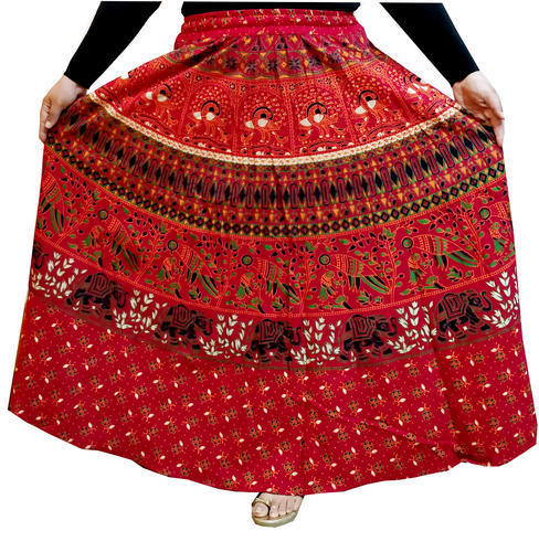 231bd61664 Women Cotton Jaipuri Printed Long Skirts, Length: 40 Inches, Rs 265 ...