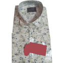 Slim Fit Mens Trendy Printed Casual Cotton Shirt, Size: S-xxl