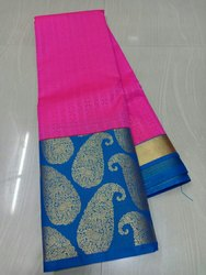 Party Wear Border Kadhampari Silk Saree, With Blouse Piece, 5.5 m (separate blouse piece)
