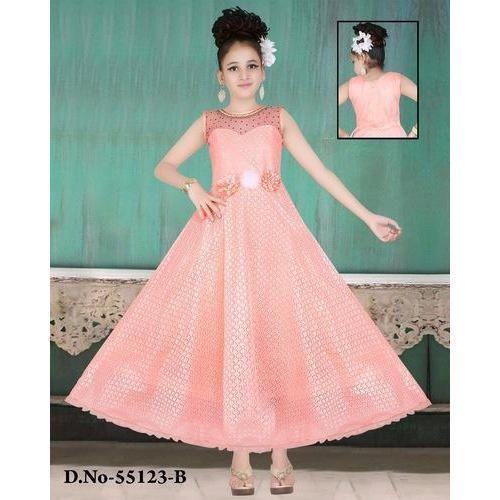 9907f5eae94f Pink Wedding Wear Party Wear Baby Long Frock