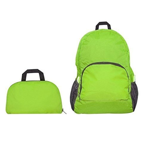 a5a41d94b1 Green Nylon Folding Waterproof Multipurpose Travel Multicolour Backpack