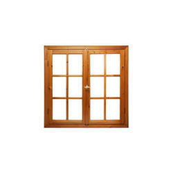 Rectangle Brown Wooden Window Frame