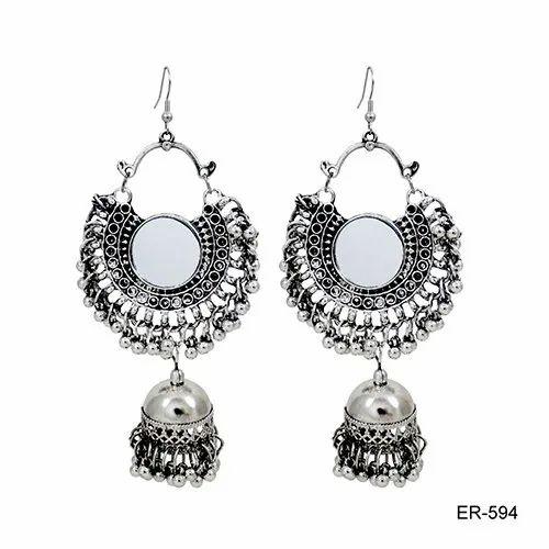 Oxidized  Mirror Earrings