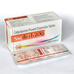 Cefpodoxime 200mg Dispersible Tablets