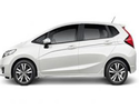 White Honda Jazz Car