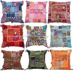 Khambadia Patchwork Indian Cushion Covers