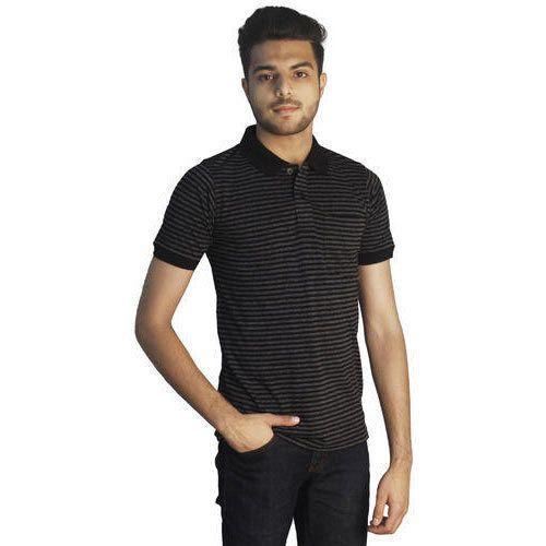 42f1cc9386 Black Anthra Premium Cotton Rich Polo Neck T Shirts