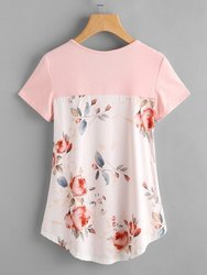 Half Sleeves 100% Cotton Jersey Ladies Casual Printed Top, Size: S-XXL
