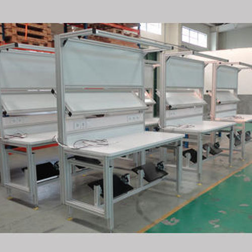 Superb Aluminum Profile Assembly Work Table Ncnpc Chair Design For Home Ncnpcorg