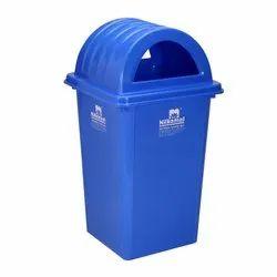 Top O.d 300 X 300-height Square Nilkamal 80Ltr Plastic Wastebin, Capacity: 80 Ltrs