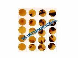 Round Brown Horn Button