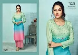 Designer Kurti With Palazzo for Ladies Wear Boutique Collection