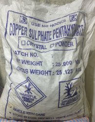 Copper Sulphate Crystal for Dyeing, Packing Size: 25 Kg