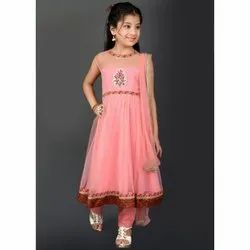 Pink Designer Party Wear Readymade Kids Wear 70065