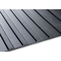 Flat Ribbed Rubber Mat