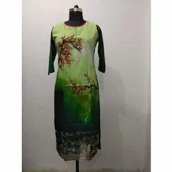 Printed Silk Casual Kurti