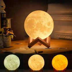 your brand Glass 3D Moon Lamp Light