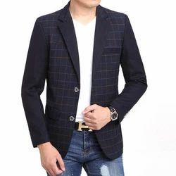 Cotton Blended Men''s Party Wear Blazer