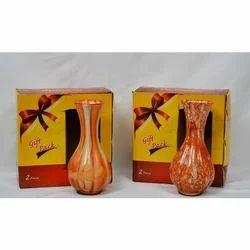 Designer Glass Flower Pot, Size: 6 Inch