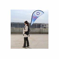 Polyester Backpack Human Banner