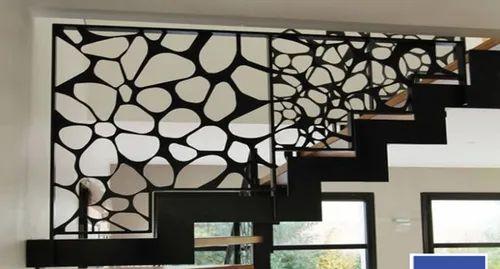 Metallic Gray Designer Stainless Steel Balcony Railing ...
