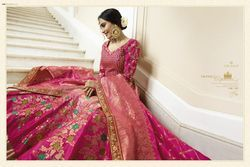 Viscose Jacquard Embroidered Lehenga Choli