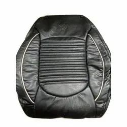 Black Leather Deep Fit Car Seat Cover