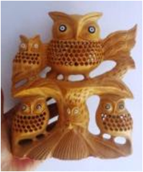 Wooden Tree Owl For Home Decor