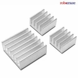 Pure Aluminium Robocraze 3 in 1 Heat Sinks for Raspberry Pi