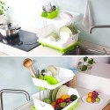 Kitchen Sink Dish Plate Drainer Drying Rack