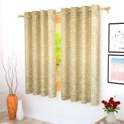 Eyelet Jacquard Bloom Window Curtain, Size: 5 Feet