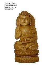 Handmade Wooden Buddha Meditating Statue