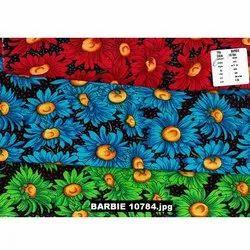 Barbie Sunflower Printed Fabric, For Garment, Apparel and Dress, GSM: 150 GSM