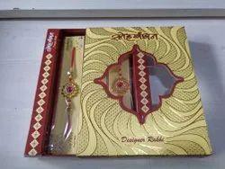 Craft 12 pc Flower Cut Rakhi Box, Size/Dimension: 1.5 X 8 Inches