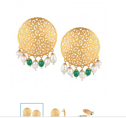 719b2fe63 Sia Golden Mesh Big Round Earrings 18415 at Rs 1121 | गोल्डन ...