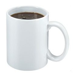 White Ceramic Sublimation Blank Mug, Packaging Type: Box, Capacity: 350 Ml